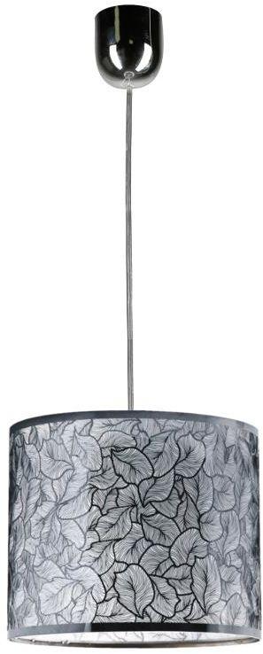 Lampex Brillante 1A 132/1A lampa wisząca srebrne zawiesie wycinany laserowo klosz roślinny wzór E27 1x60W 30cm
