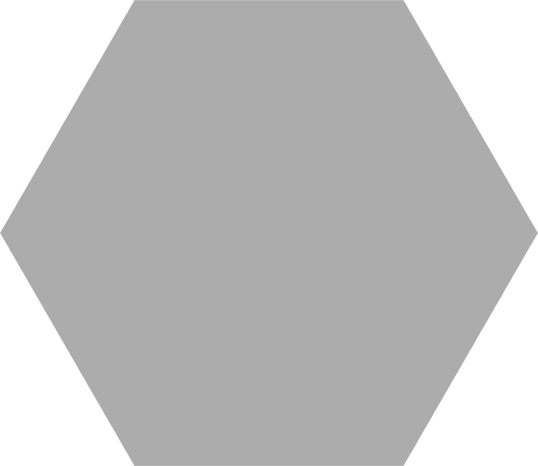 Hex 25 Basic Silver 22x25 Płytka heksagonalna