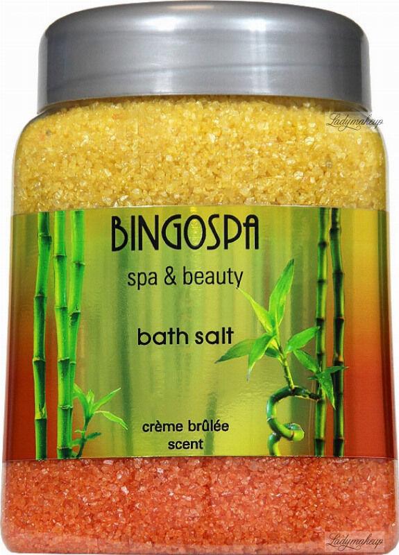 BINGOSPA - SPA & Beauty Bath Salt - Sól do kąpieli o zapachu Crème Brûlée - 850 g