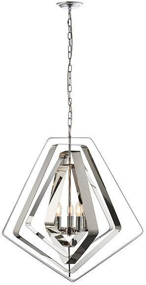 Lampa wisząca Riona 81928 Endon nowoczesna oprawa w kolorze chromu