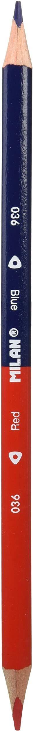 Caja 12 lápices bicolores (azul y rojo)
