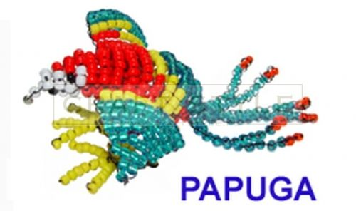 koraliki 3D zestaw PAPUGA