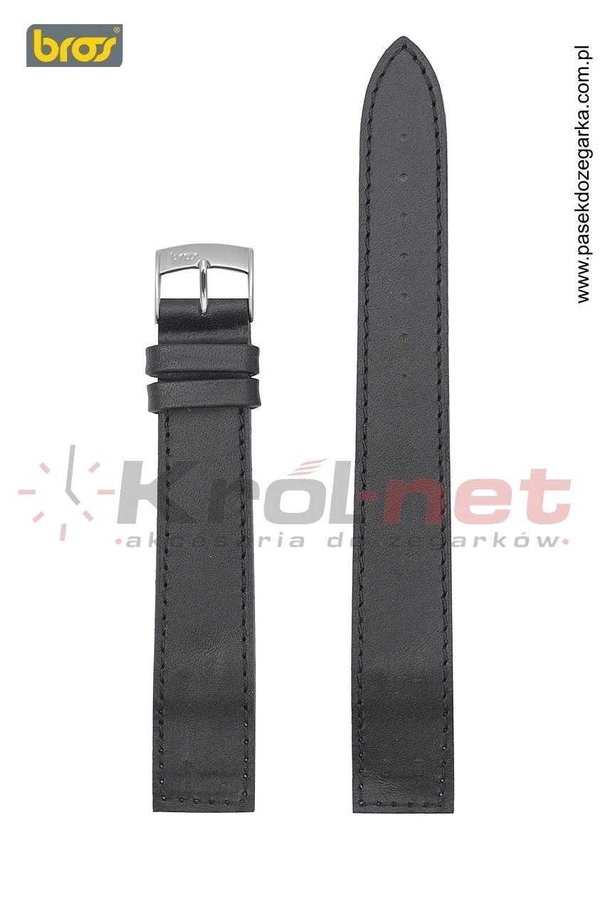 Pasek 7542/10/10 - czarny, do zegarków bez teleskopów