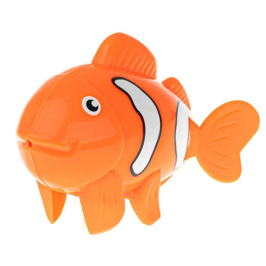Zabawka do kąpieli nakręcana ryba pomarańczowa