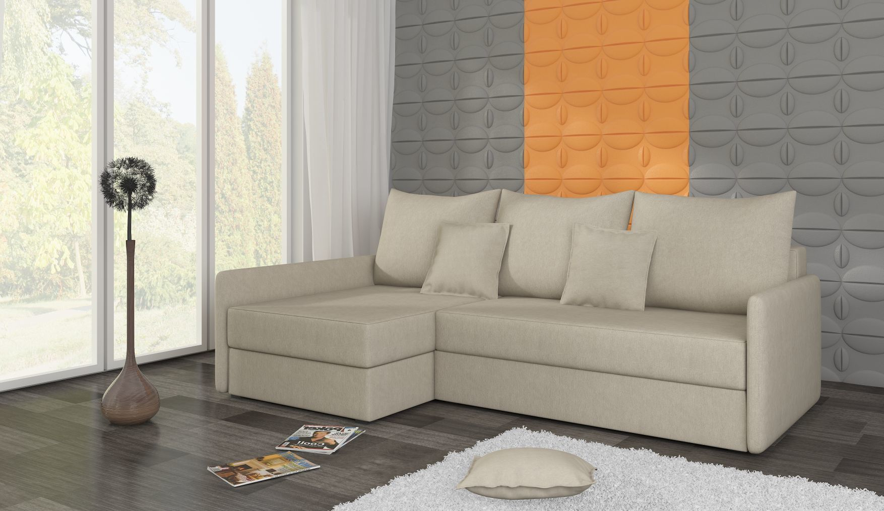 Rogówka ARKADIA 2 ST funkcja spania kanapa łóżko