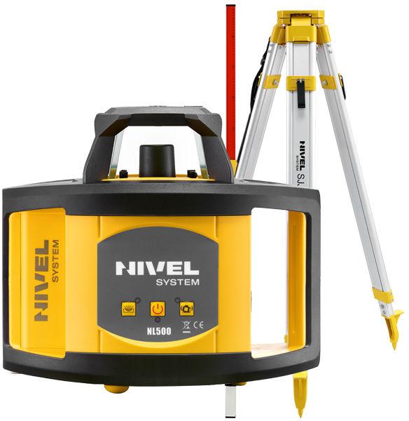 Niwelator laserowy Nivel System NL500 + statyw + łata