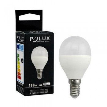 Żarówka POLUX LED SMD 6W 40W gwint E14 480lm ciepła/żółta barwa światła- wysyłka 24h (na stanie 8 sztuk)