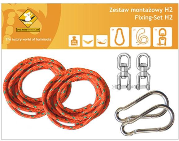 Zestaw montażowy H2 do hamaków, pomarańczowy koala/zh2