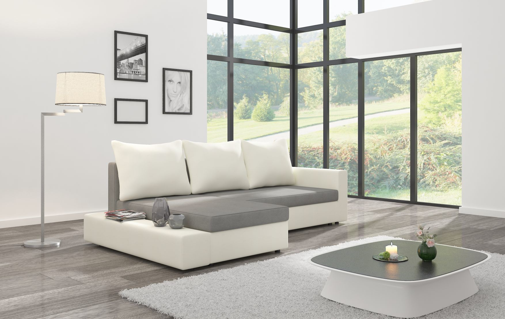 Narożnik CARLO ST włoski design nowoczesny salon