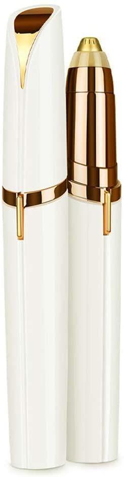 Cenocco Golarka do brwi, pozłacana 18-karatowym złotem, na baterie, biały/złoty