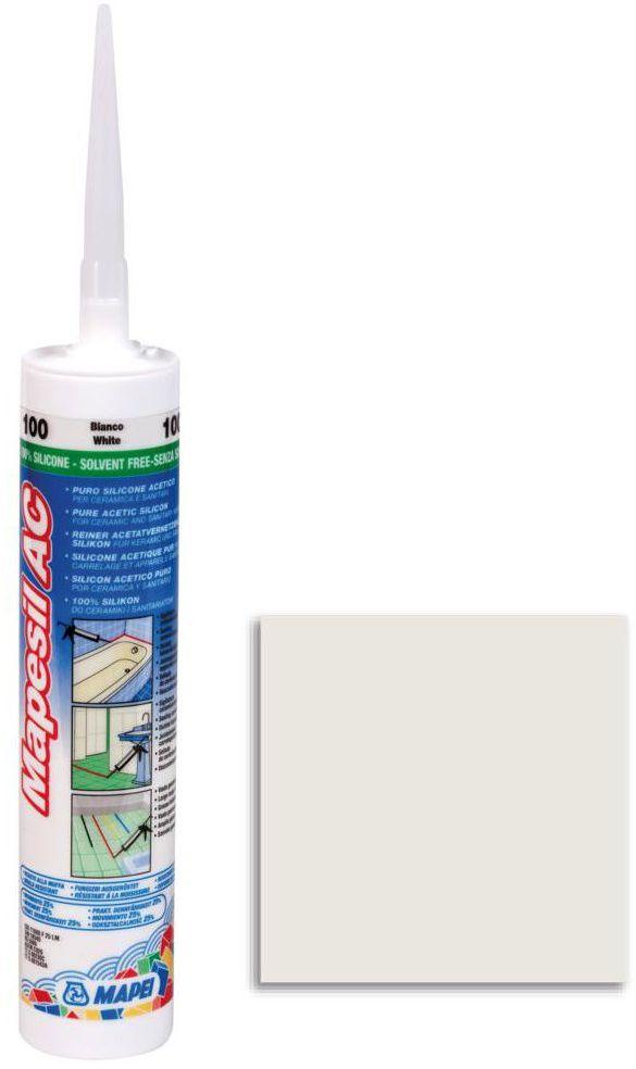 Silikon sanitarny MAPESIL AC 100 310 ml Biały MAPEI