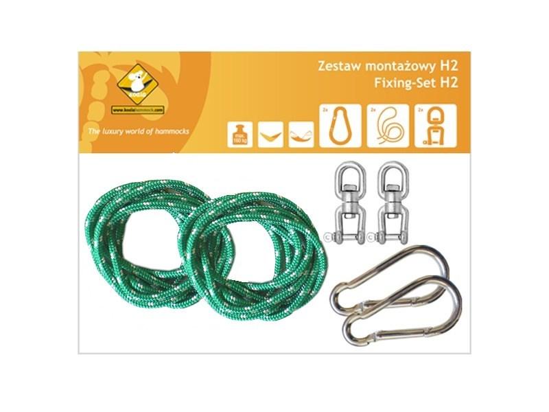 Zestaw montażowy H2 do hamaków, Zielony koala/zh2