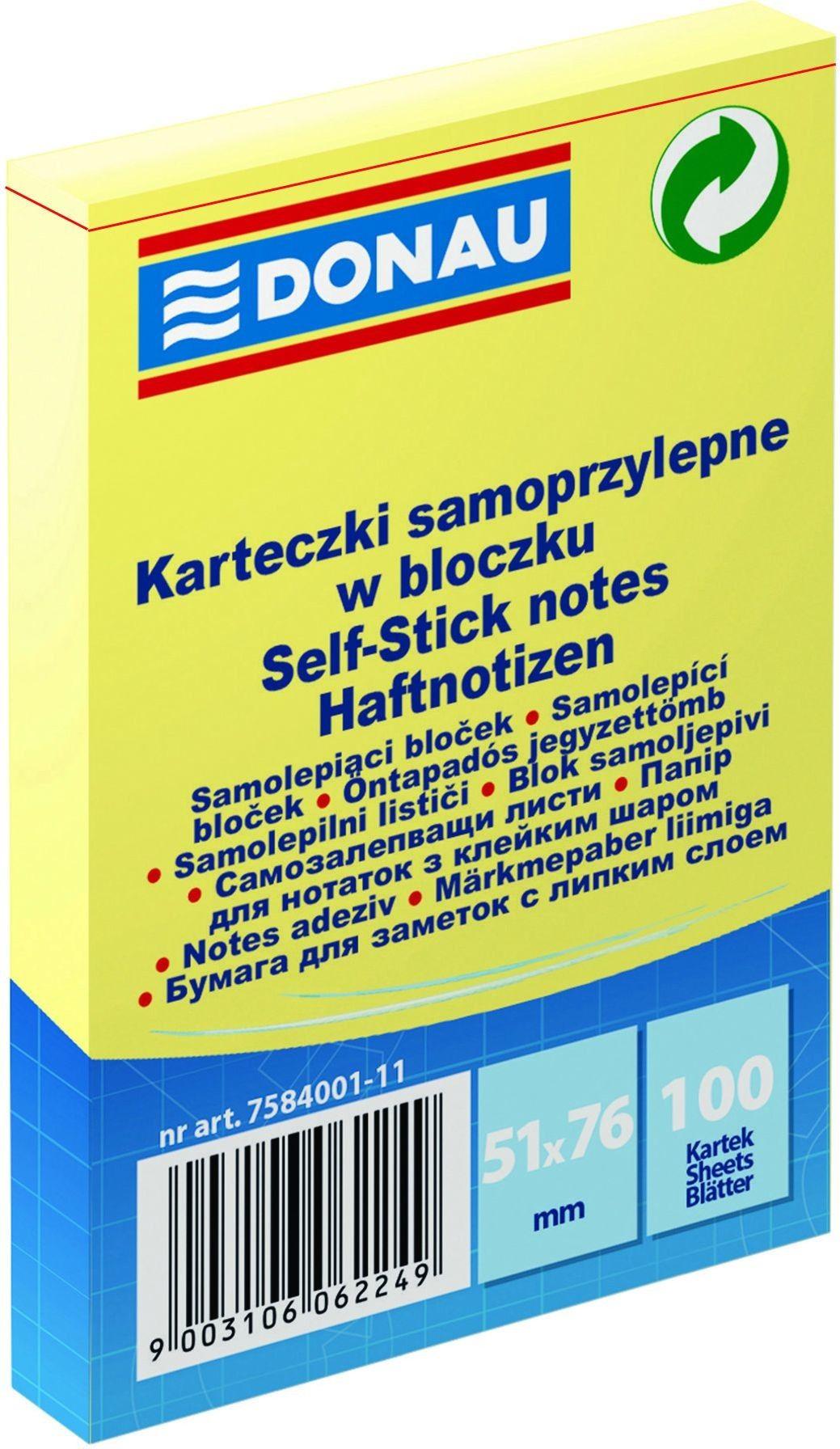 Notes samoprzylepny DONAU 51x76mm 1x100 kart. /7584001-11/
