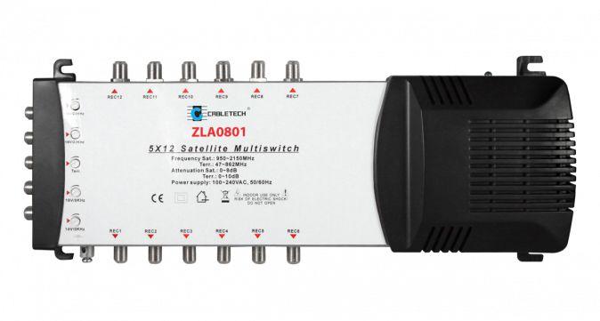 Multiswitch Cabletech 5x12 z regulacją wzmocnienia model ZLA0801
