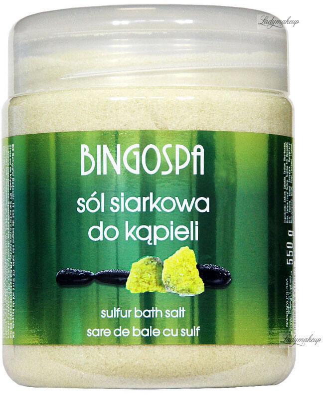 BINGOSPA - Sulfur Bath Salt - Sól siarkowa do kąpieli - 550 g