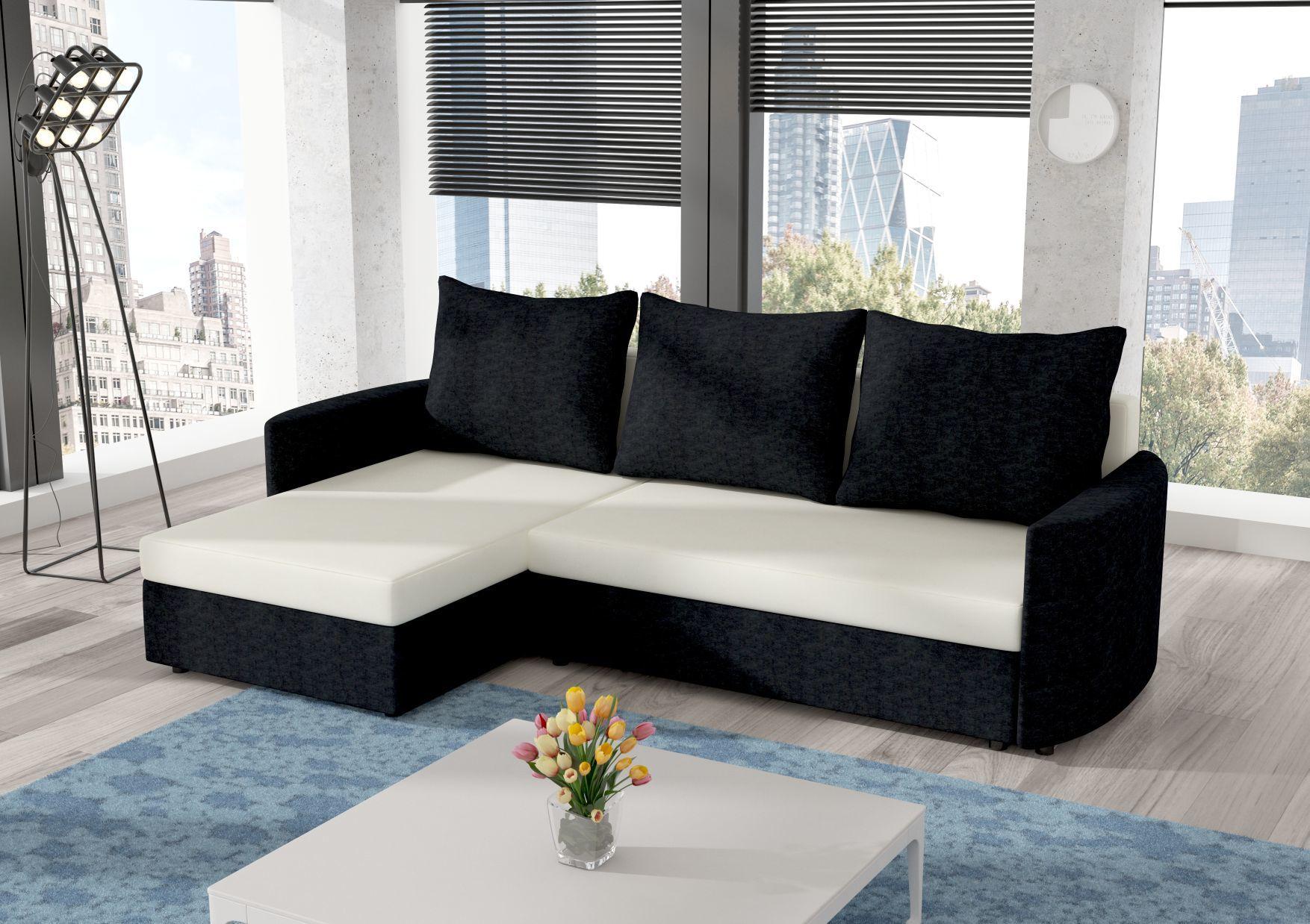 Prosty narożnik SANTI ST rozkładany kanapa łóżko