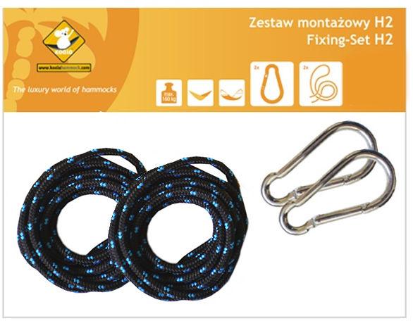 Zestaw montażowy H2_2 do hamaków, Czarny koala/zh2_2