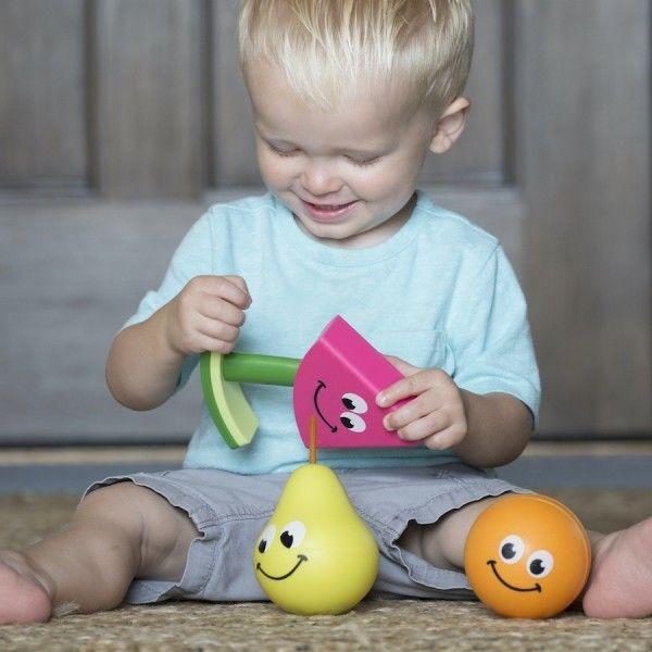 Fat Brain Toys - wczesnorozwojowe przyjacielskie owoce 3w1 Fruit Friends