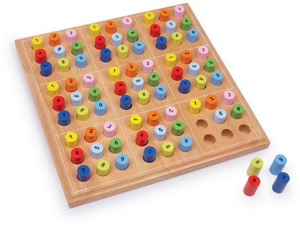 Drewniana Klasyczna Gra Logiczna Sudoku Small Foot