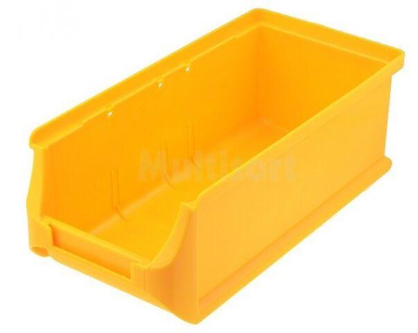 Pojemnik warsztatowy 75x102x215mm żółty plastik