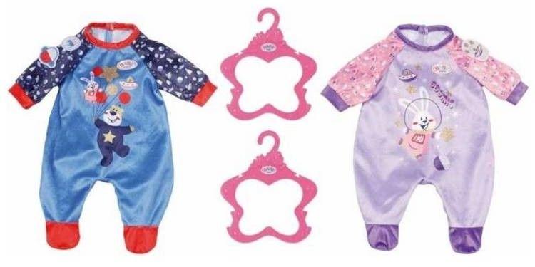 BABY Born - Śpioszek pajacyk dla lalki 43 cm Fioletowy 831090