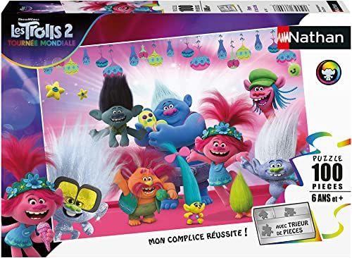Nathan Puzzle 100 części Poppy i Jes przyjaciele Trolls 2 dzieci, 4005556867707