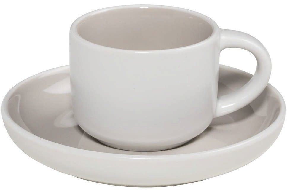 Maxwell & williams - tint - filiżanka do espresso, biało-szara
