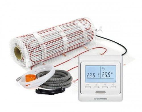 Mata grzejna kompletny zestaw Mata + regulator temperatury + akcesoria montażowe Warmtec DS2-10/T510 rozmiar 1 m2