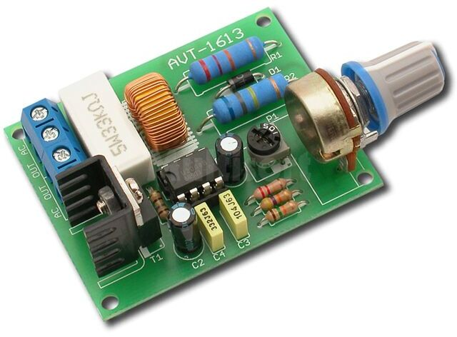 Regulator obrotów silnika indukcyjnego wentylatora 230V (do montażu)