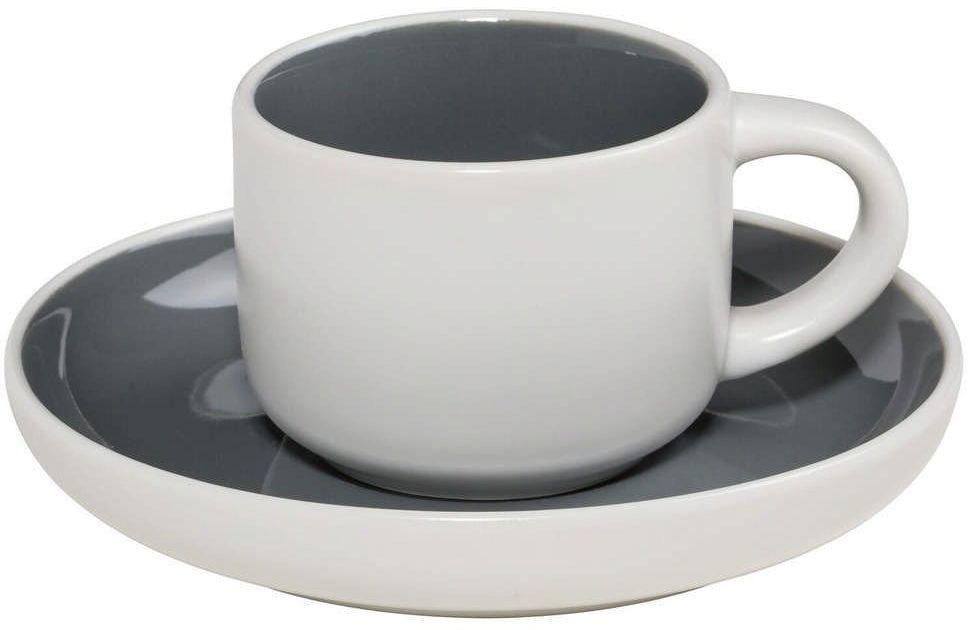 Maxwell & williams - tint - filiżanka do espresso, biało-grafitowa