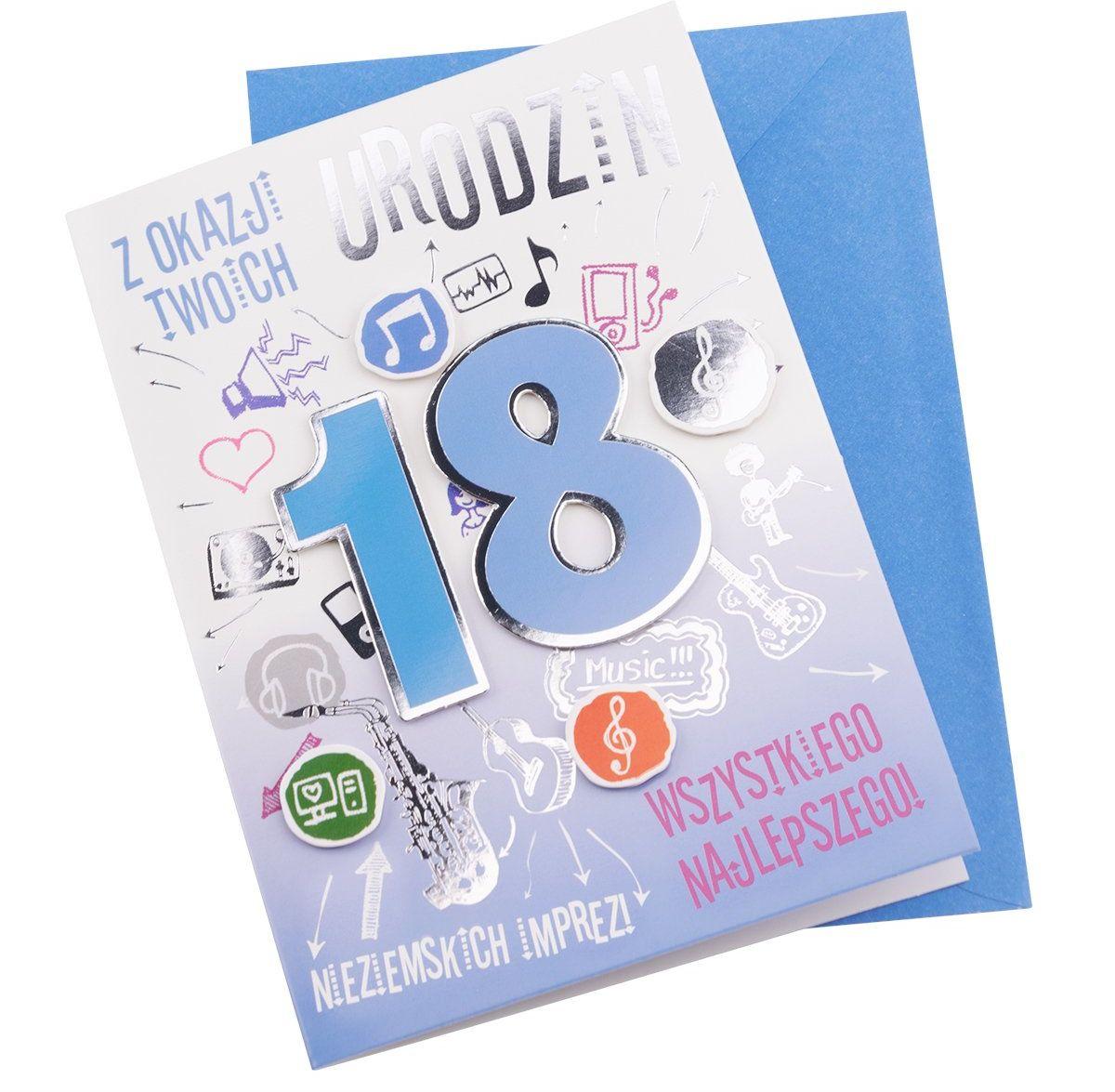 Kartka na 18 Urodziny - Nieziemskich Imprez dla Niego
