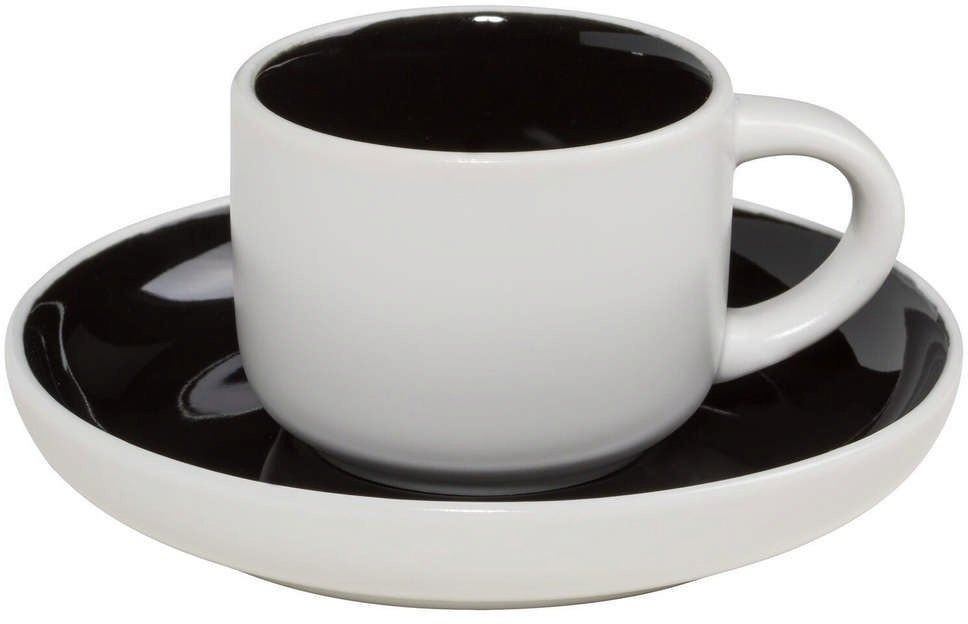 Maxwell & williams - tint - filiżanka do espresso, biało-czarna