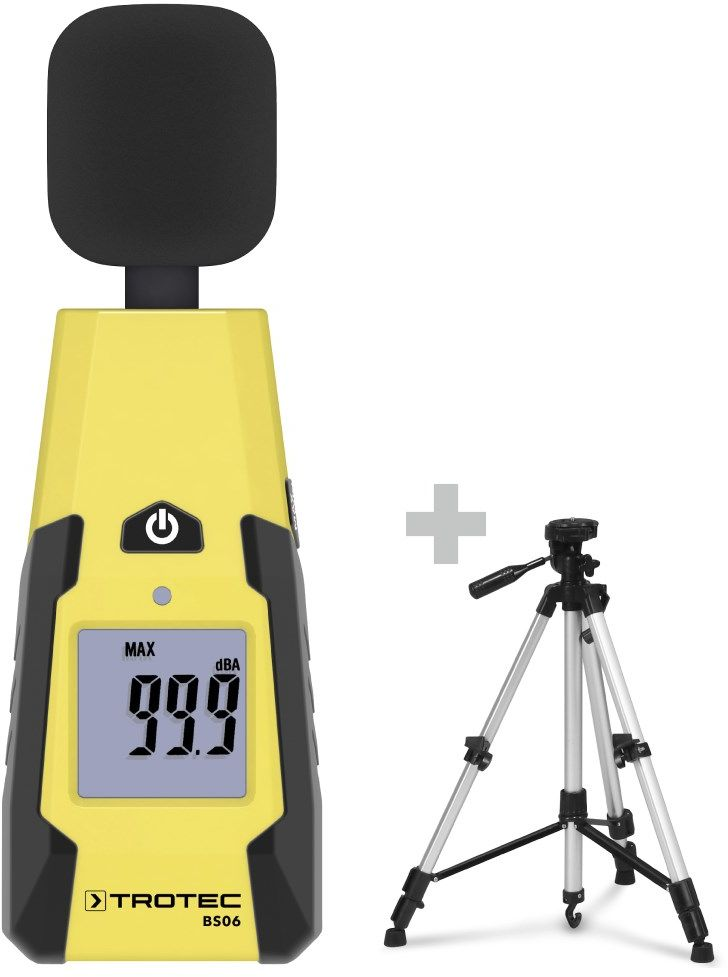 Miernik poziomu dźwięku BS06 + Uniwersalny statyw trójnóg