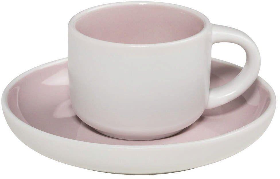 Maxwell & williams - tint - filiżanka do espresso, biało-różowa