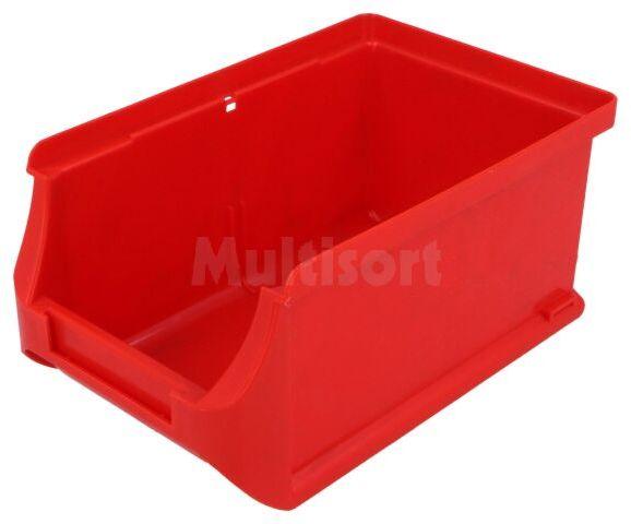 Pojemnik warsztatowy 75x102x160mm czerwony plastik