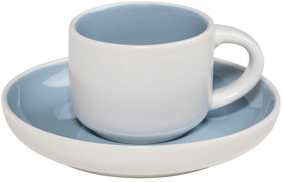 Maxwell & williams - tint - filiżanka do espresso, biało-niebieska