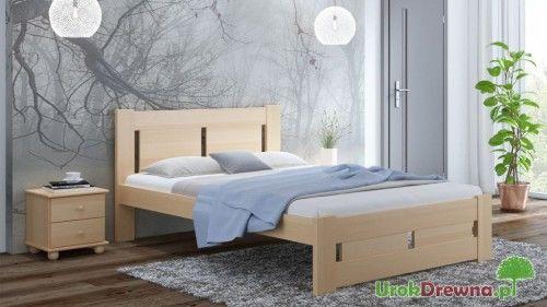 Łóżko do sypialni drewniane bukowe Nela 140x200