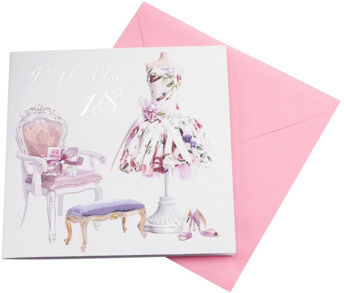 Kartka na 18 Urodziny - Sukienka