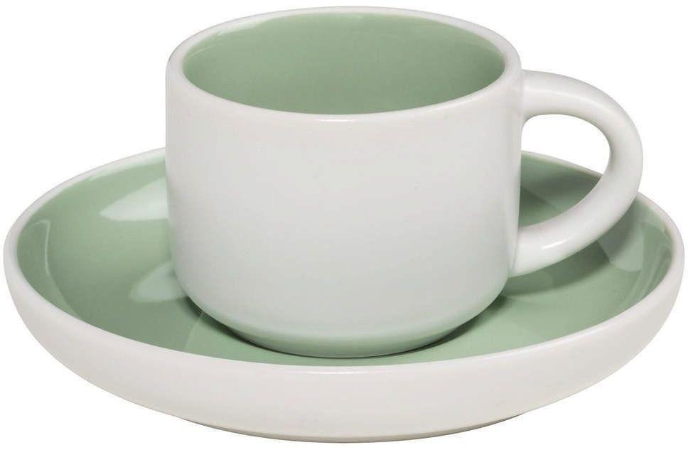 Maxwell & williams - tint - filiżanka do espresso, biało-zielona