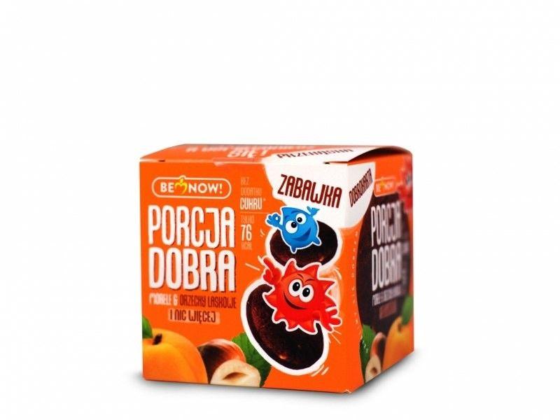 Porcja Dobra Kostka z niespodzianką morela i orzechy laskowe - 25 g