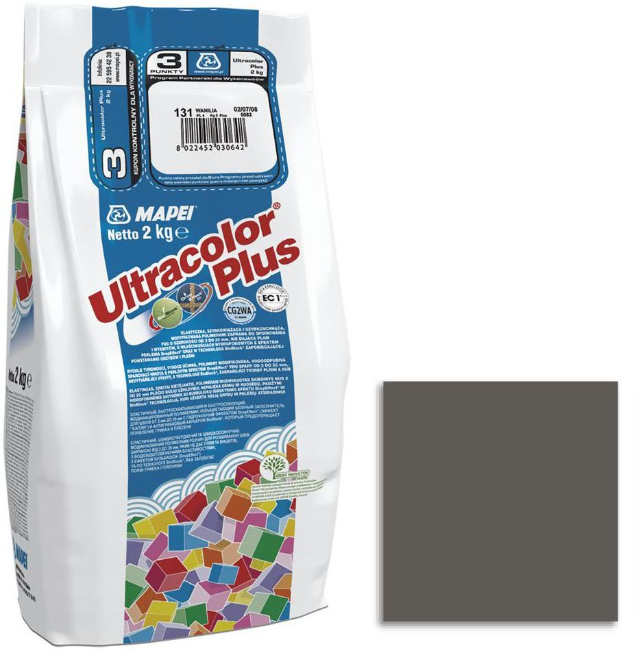 Fuga cementowa ULTRACOLOR 114 antracyt 2 kg MAPEI