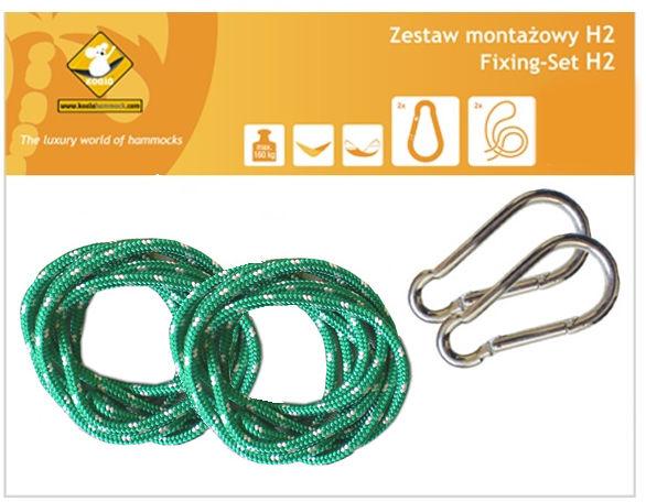 Zestaw montażowy H2_2 do hamaków, Zielony koala/zh2_2