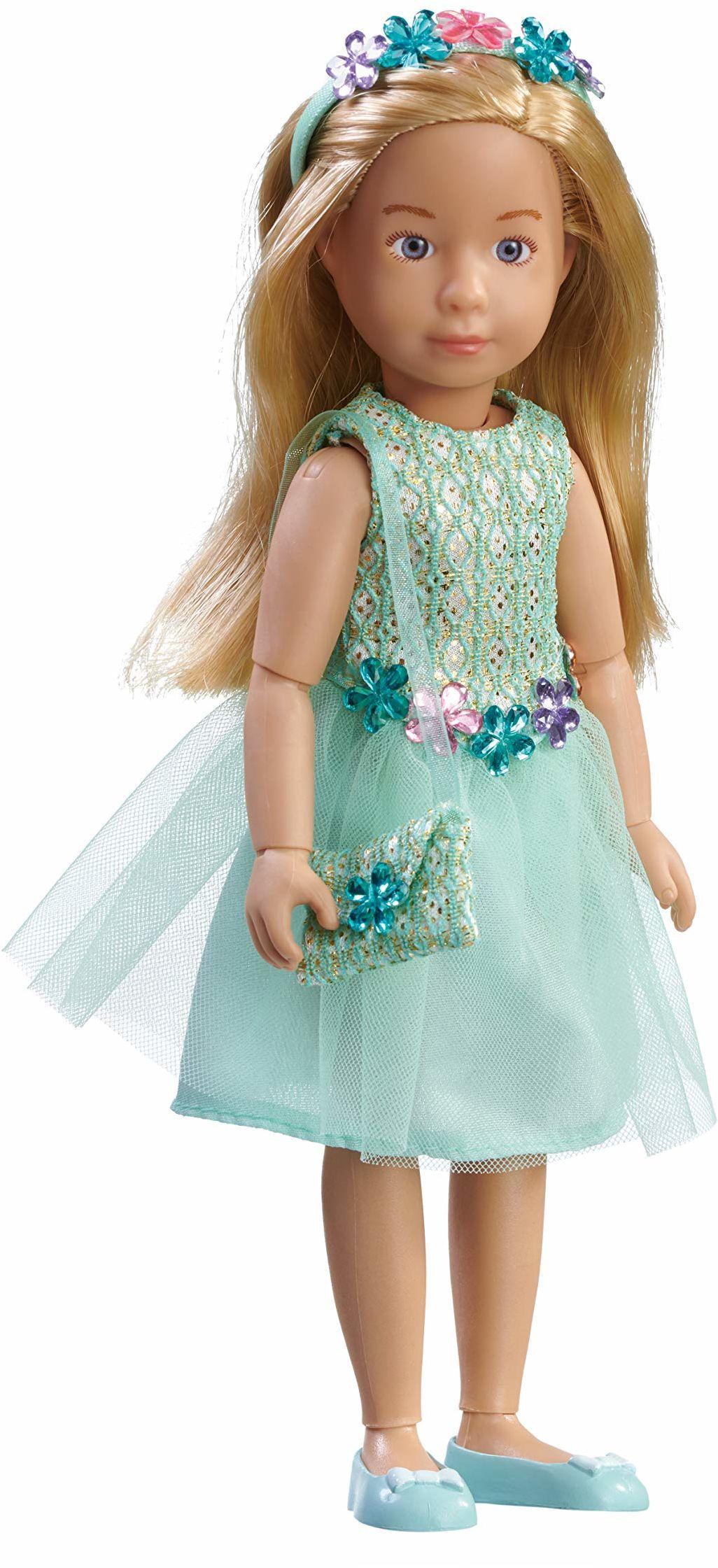 Käthe Kruse 0126853 Vera Party Dress, jasnoniebieska
