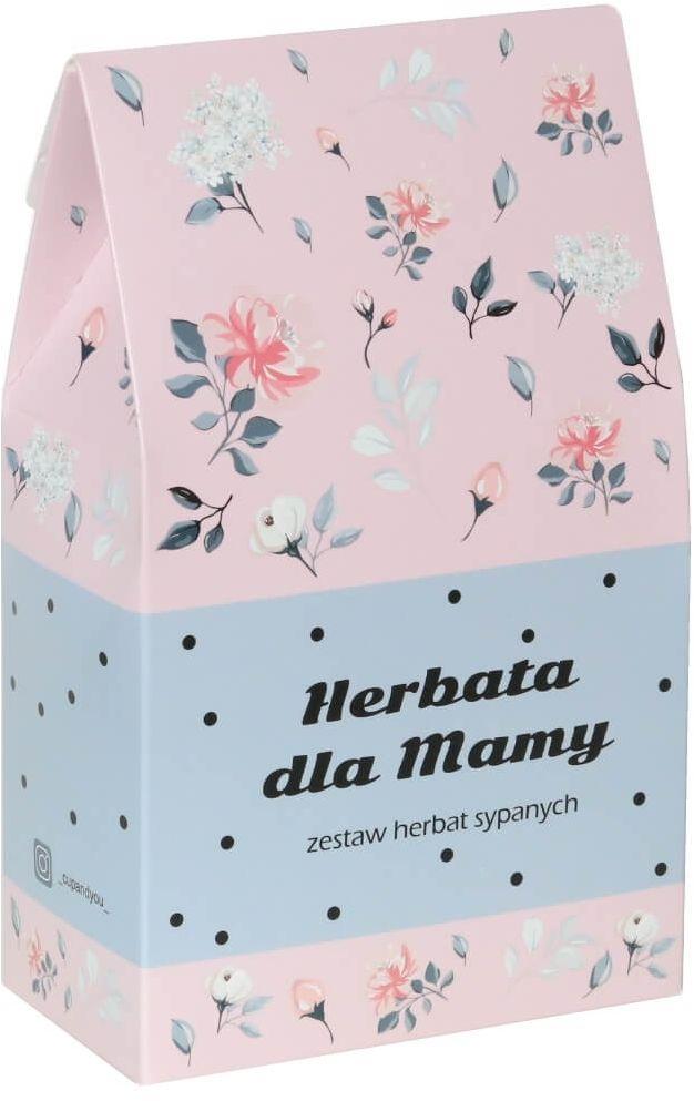 Herbata dla Mamy w kwiecistej torebce - prezent upominek 10 herbat smakowych na Dzień Matki 9x5g, 1x8g