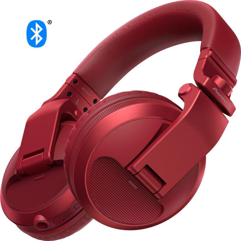 PIONEER HDJ-X5BT-R - czerwone słuchawki bezprzewodowe Bluetooth