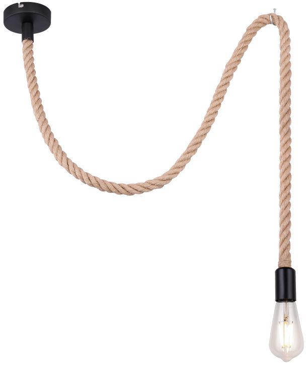Globo ULLEU 69029H lampa wisząca czarna 1xE27 100cm