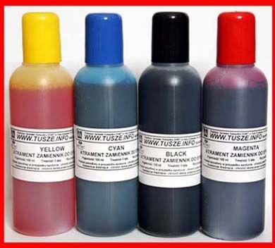 Zestaw kartridże wieczne zamienne, napełnialne T1281-4 + 4x100ml tusz barwnikowy