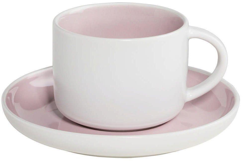 Maxwell & williams - tint - filiżanka do kawy, biało-różowa