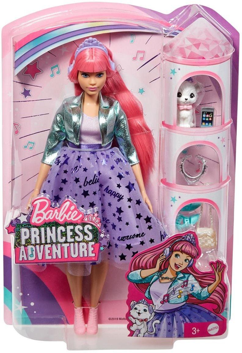 Barbie Princess Adventure - Lalka Księżniczka Daisy z kotkiem GML77
