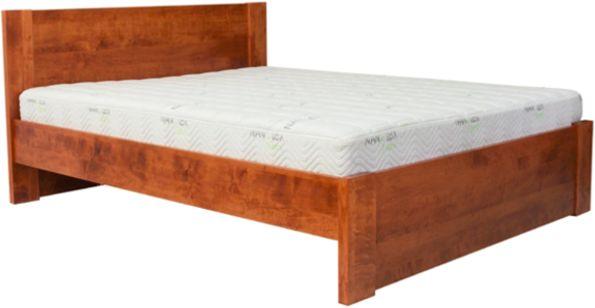 Łóżko BODEN EKODOM drewniane, Rozmiar: 140x200, Kolor wybarwienia: Orzech, Szuflada: Brak Darmowa dostawa, Wiele produktów dostępnych od ręki!